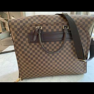 Authentic Louis Vuitton Damier Nolita MM travel bg